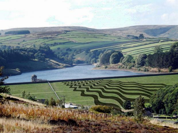How the Fields of Vision project near Stanbury, Haworth, will look