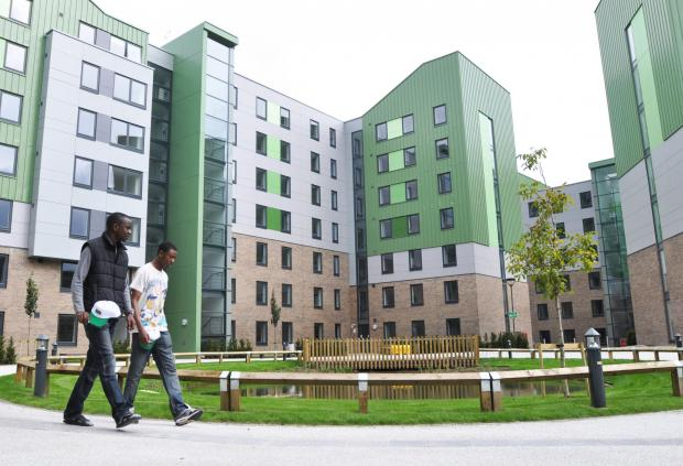 The Green student village, part of the University of Bradford's environmentally-friendly site