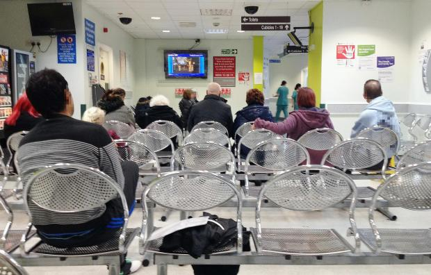 Patients wait in A&E at Bradford Royal Infirmary