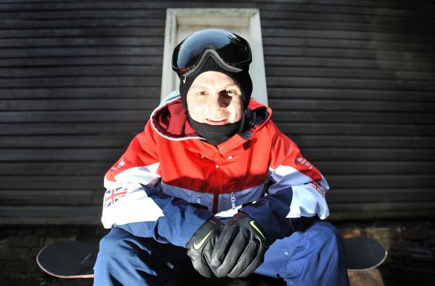 Bradford Telegraph and Argus: Jamie Nicholls, pictured, and snowboard legend Shaun White have been helping each other in the build-up to the Winter Olympics