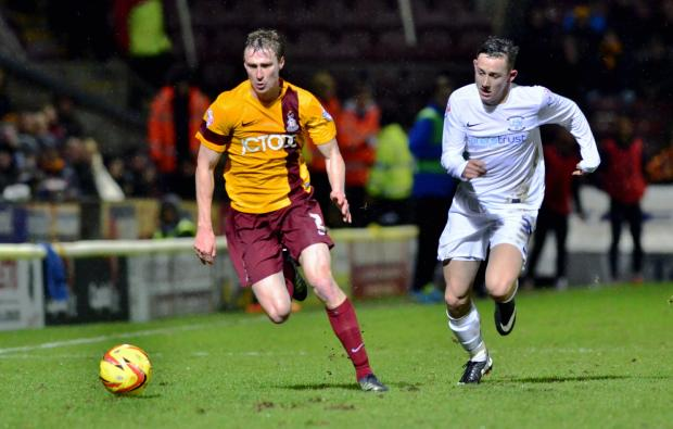 Bradford Telegraph and Argus: Stephen Darby, pictured, and Andrew Davies impressed in City's impenetrable defence at home to Preston