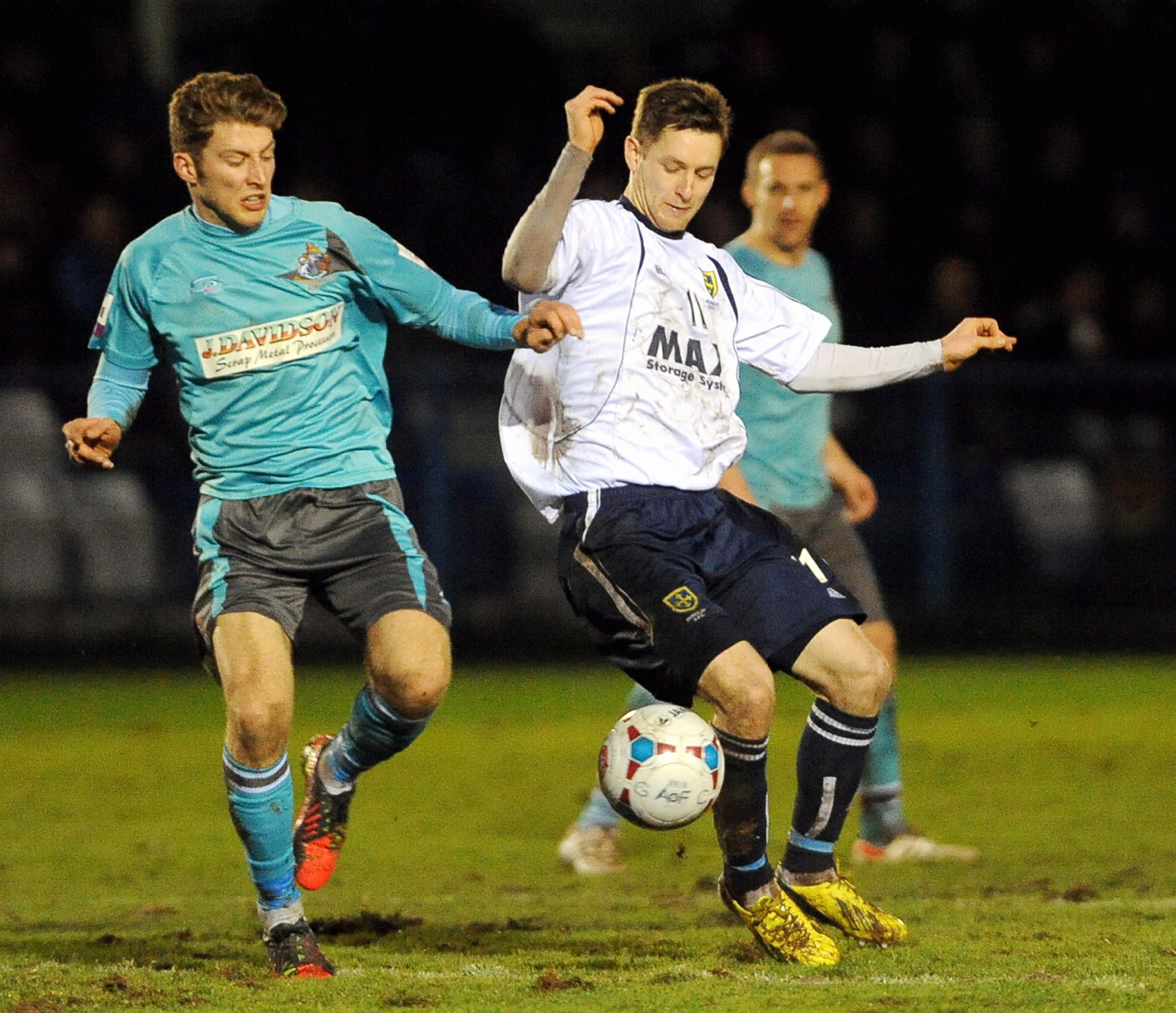 LONG TIME NO SEE: Gavin Rothery in action during the 2-2 draw with Altrincham on December 21, which was the last time the Lions were in action at Nethermoor