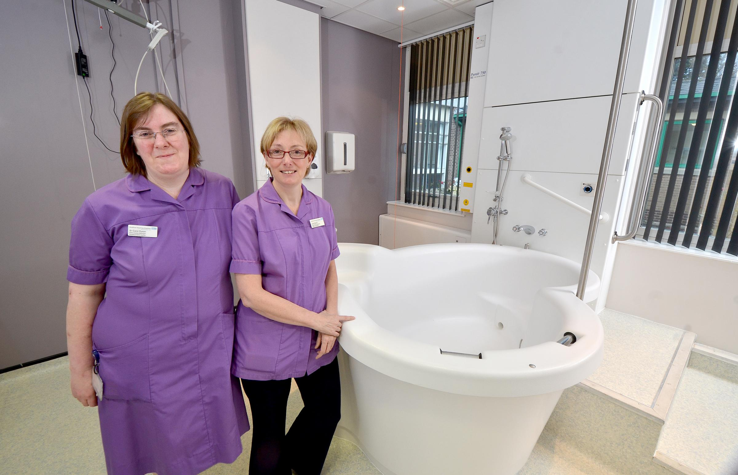 Birth centre manager Carol Dyson (left) and head of midwifery Julie Walker at Bradford Royal infirmary's midwife-led maternity unit
