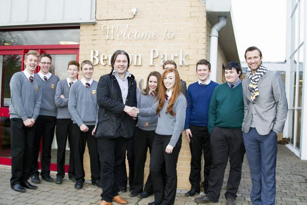 Benton Park pupils with Matt Bates ( far right)
