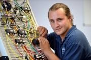 Thorite apprentice Sam Edmands, who was recruited by the Bradford-based pneumatics specialist
