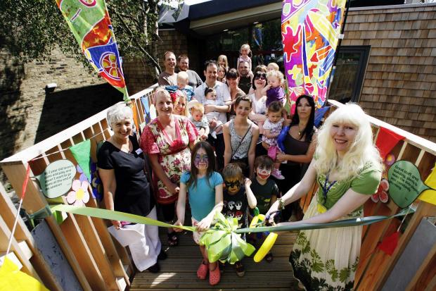 Bradford Telegraph and Argus: The official opening of the Treetops children's centre in Haworth, in July 2011