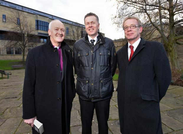 Right Reverend Nick Baines (left) with Tony Reeves, the chief executive of Bradford Council (c