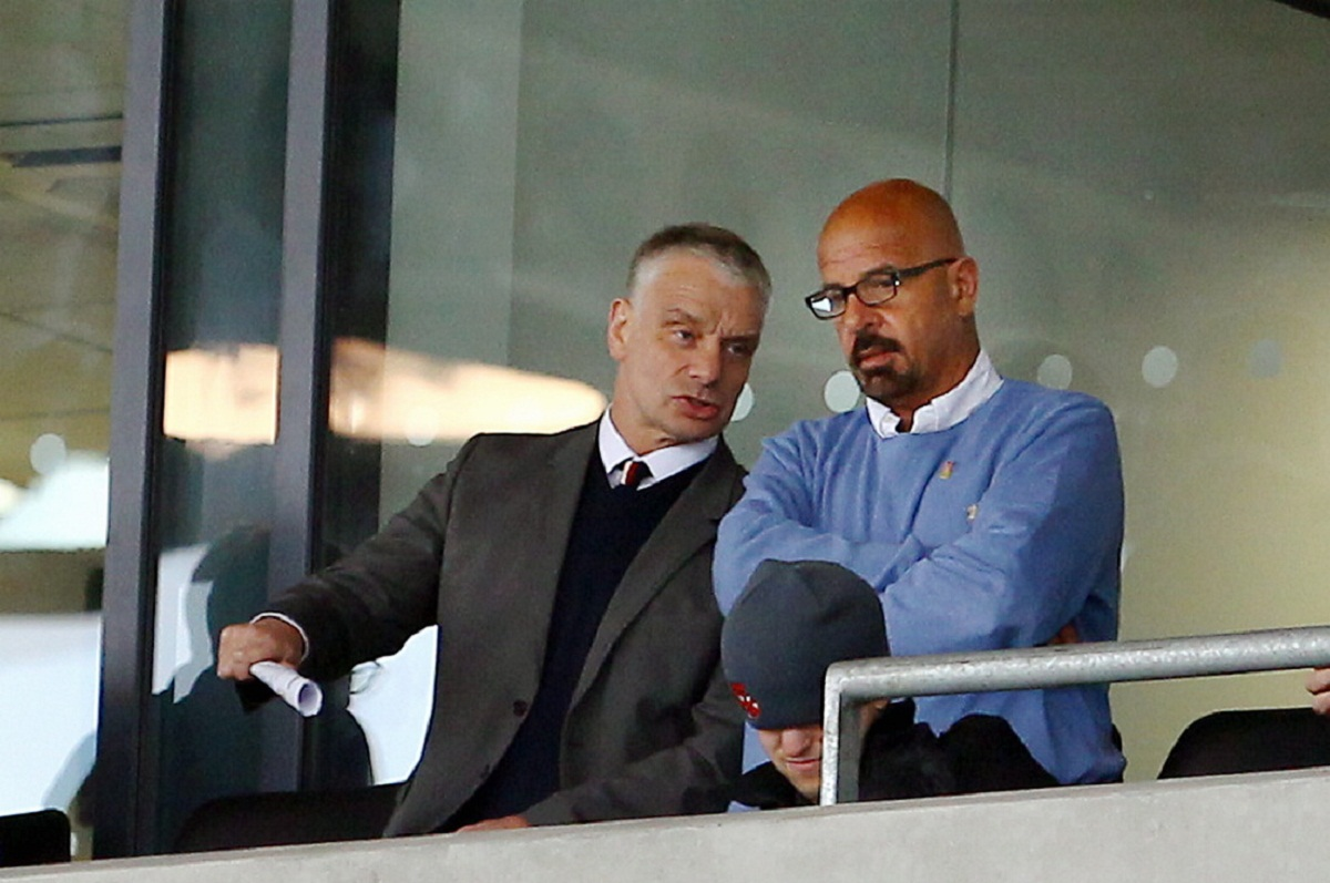 Brian Noble with controversial Salford owner Marwan Koukash