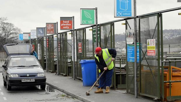 The Midland Road tip, one of eight household waste-recycling centres across the district