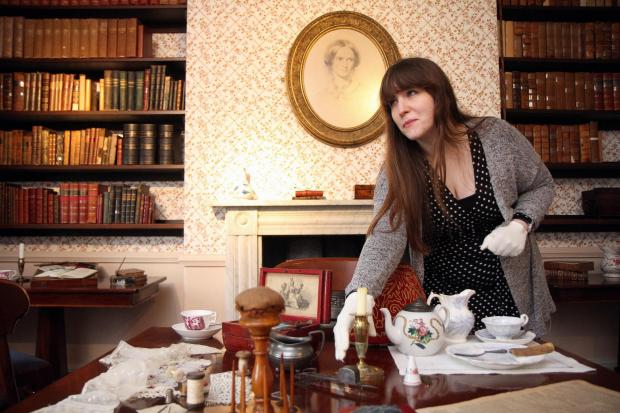Bronte Parsonage Museum volunteer Amy Rowbottom in one of the refurbished rooms at the museum