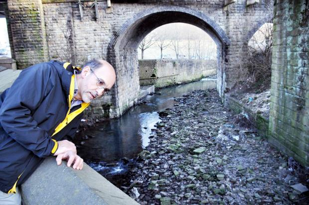 Friends of Bradford's Becks chairman, Barney Lerner, at Bradford Beck