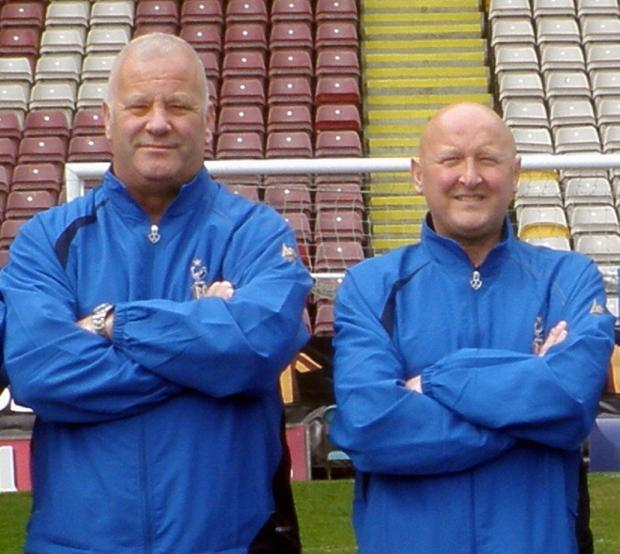 Lee Clapham, right, and Dave Morgan departed as Thackley's promotion campaign fell away