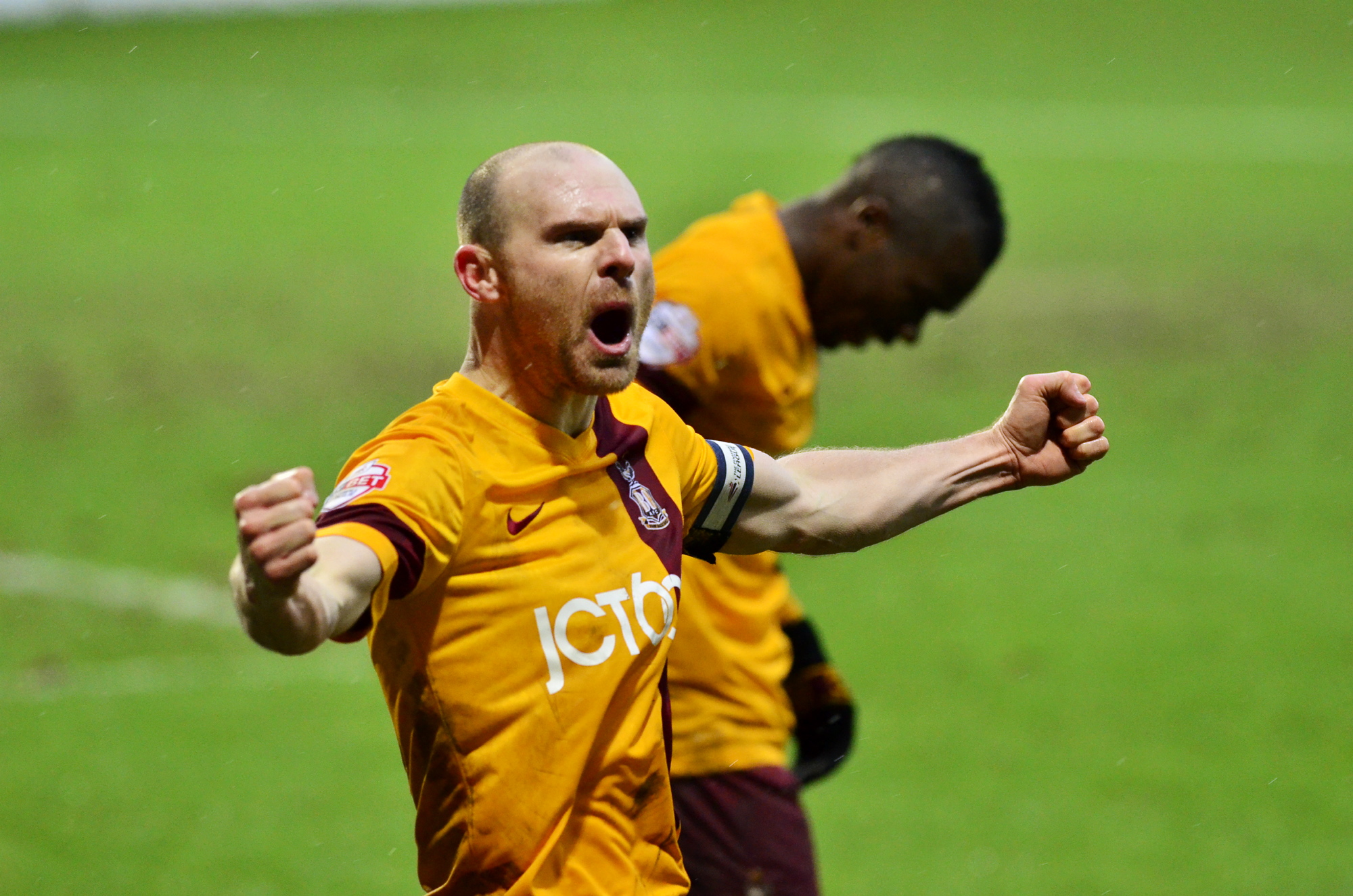 GREAT LEVELLER: Gary Jones after making it 2-2 with the first of his two equalising goals in Saturday's 3-3 draw at Valley Parade