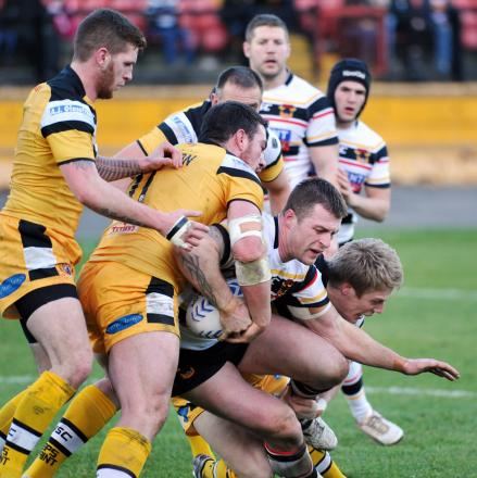Adam Sidlow, pictured in pre-season action against Castleford, says he is in love with the club and the game