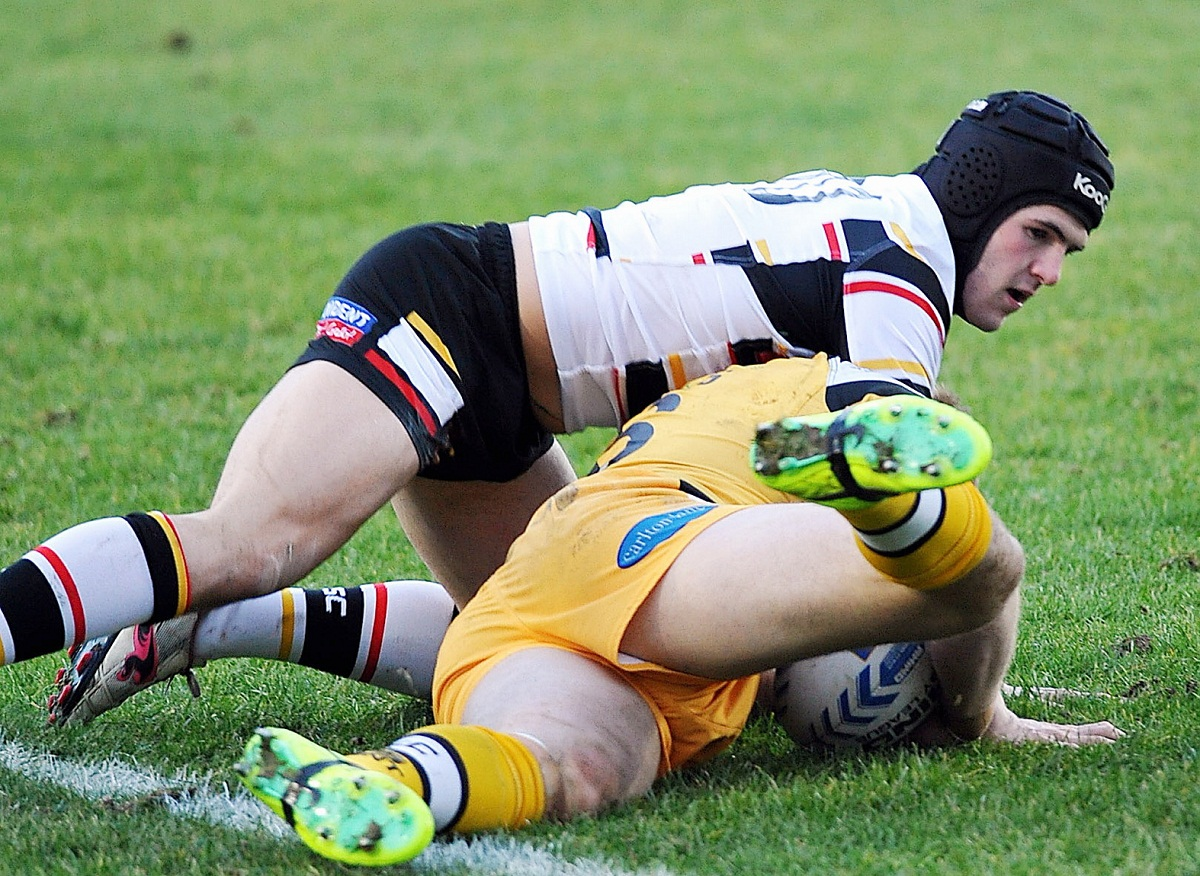 Nathan Conroy, in action against Castleford in the final pre-season friendly, is chuffed to be playing for his home-town club