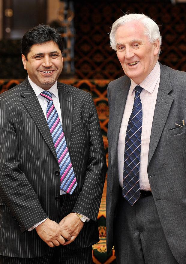 Bradford Telegraph and Argus: Dr Mohammed Iqbal and Sir James Hill, vice-chairman and chairman respectively of Bradford Matters