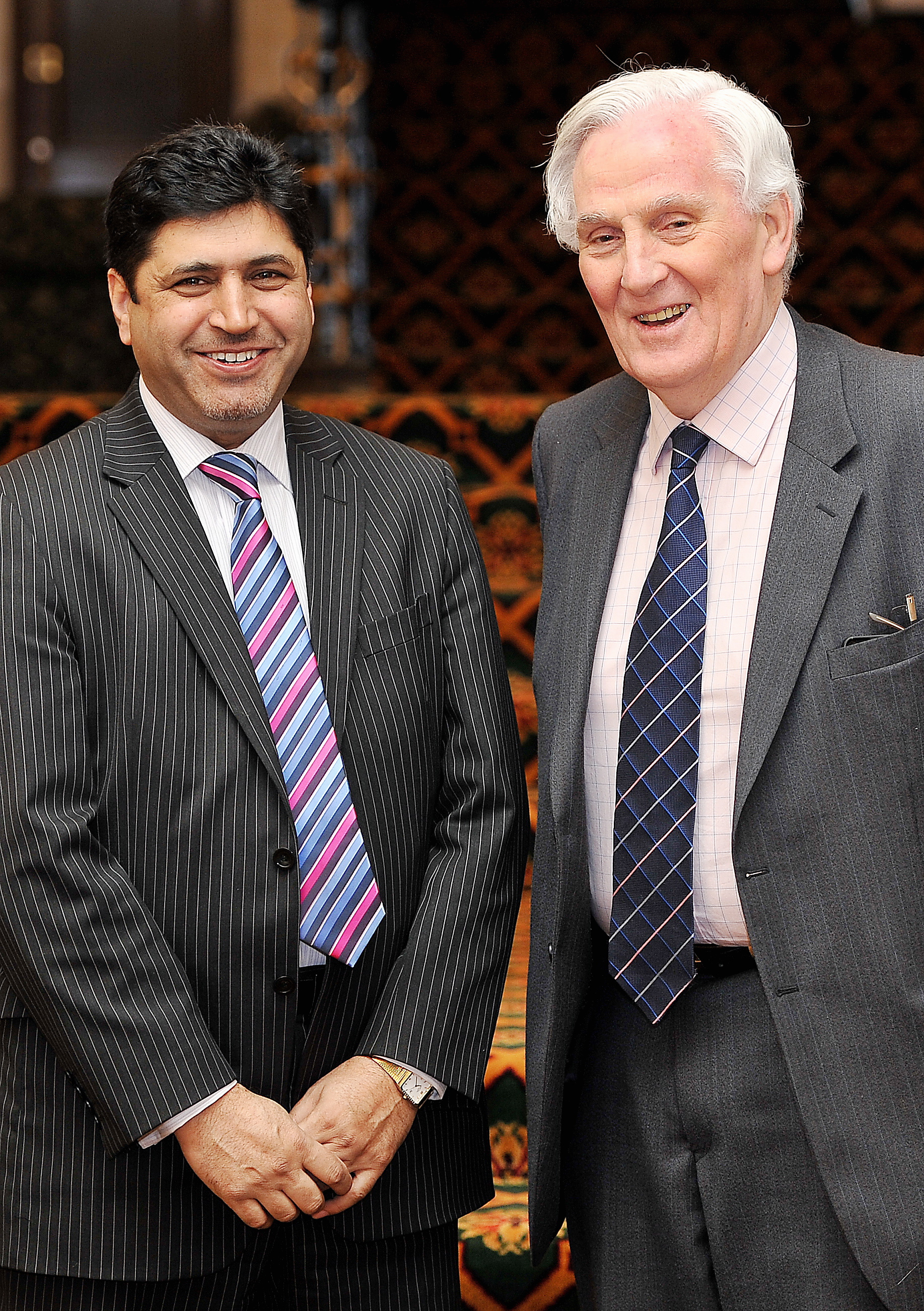 Dr Mohammed Iqbal and Sir James Hill, vice-chairman and chairman respectively of Bradford Matters