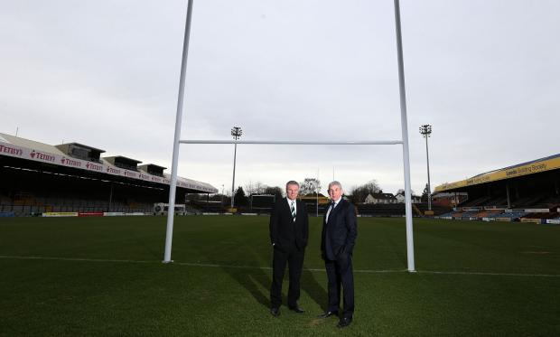Leeds Rugby's chief executive Gary Hetherington, left, and Leeds Carnegie chairman Sir Ian McGeechan at the launch of new club Yorkshire Carnegie at Headingley