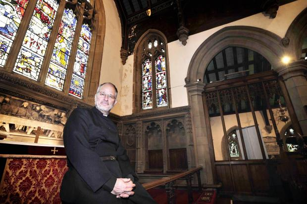 The Rev Peter Mayo-Smith inside Haworth Parish Church which is undergoing a major refurbishment scheme