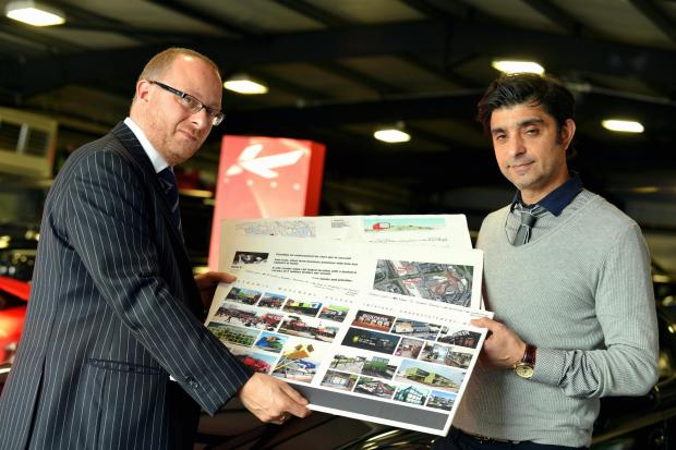 Automotive designer Afzal Kahn (right) has teamed up with property developer Paul Morris (left)