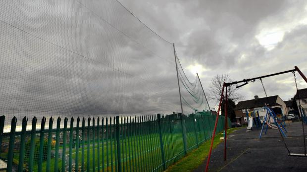 The fence at Carrwood Primary School