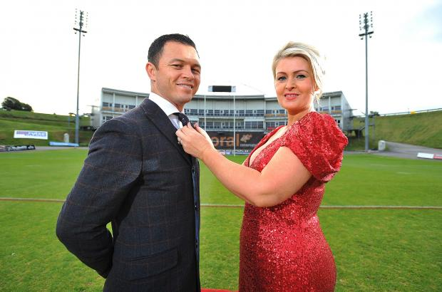 Kate Hardcastle, pictured with Robbie Paul last season promoting her 'Wear Red' event, has taken on a new role at Bulls