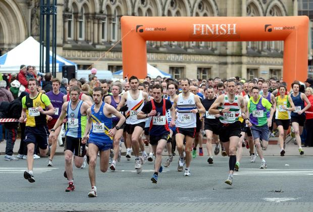 Entrants set off in a previous Bradford 10K
