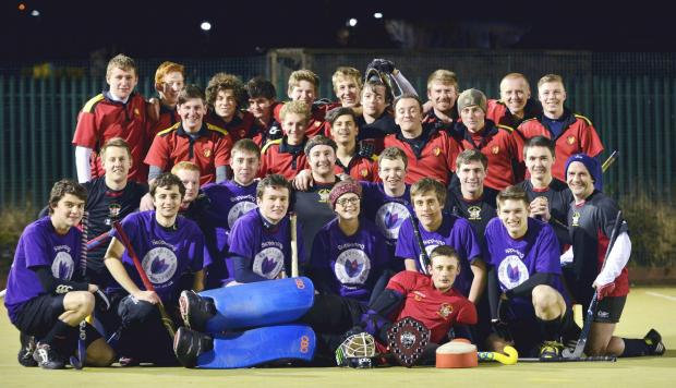 University of Bradford's Men's first team and The University of Bradford Hockey Club first team after the match
