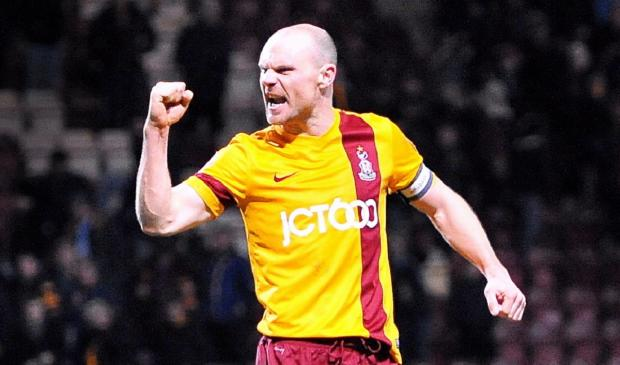 Skipper Gary Jones celebrates after City's last-gasp midweek victory against Port Vale