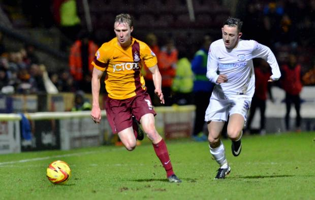LOYAL SUPPORTERS: Stephen Darby, left, has praised the City faithful for their consistent backing throughout the barren spell at Valley Parade