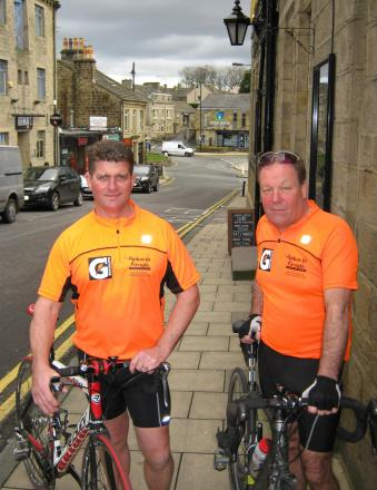 Paul Kearns (left) and Steve Tindall who will ride to southern Spain to raise money for two good causes
