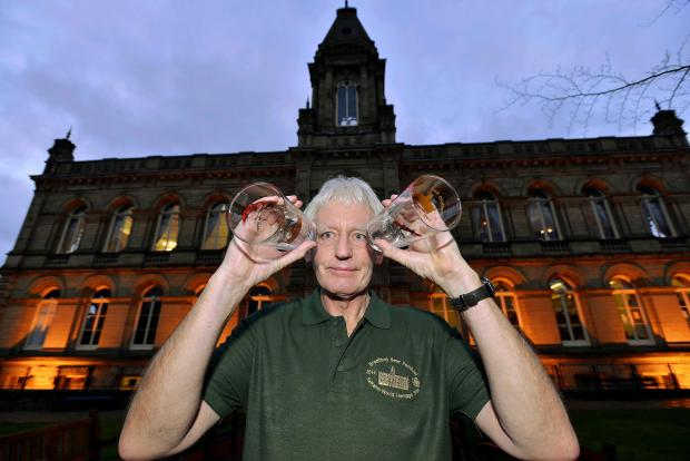 Tony Constable is pictured at Saltaire's Victoria Hall in preparation for the Bradford Beer Festival