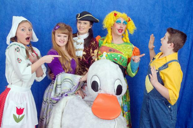 Bingley Amateur Operatic Society cast members get in some panto rehearsal time