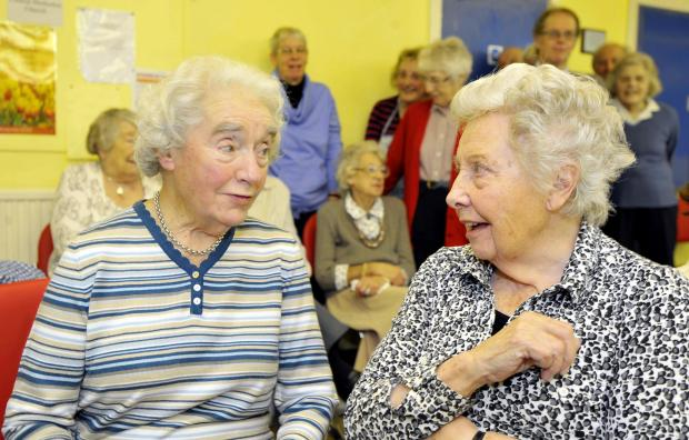 Founders Violet Marriott (left) and Kath Martin at Cleckheaton Central Day Centre