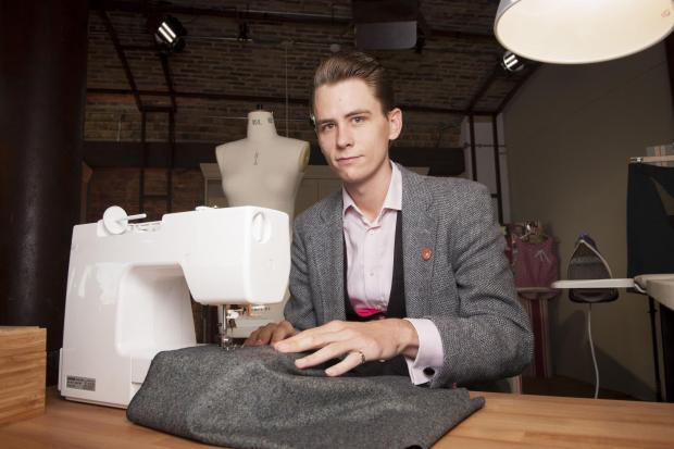 Simon Cantrill, an assistant at Bradford Industrial Museum, in The Great British Sewing Bee