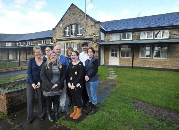 Staff members Sue Huddleston, Emma Robertshaw, Rod Nicholls, Sarah Smith, Carol Simpson, Jamie Dorsett, Sarah Townend and Becky Hepworth at Valley View House