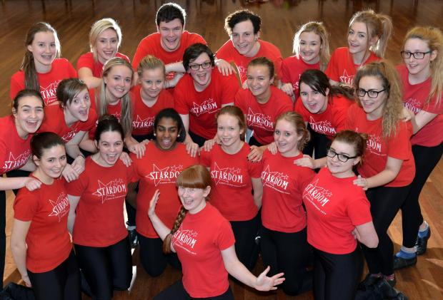 Sophie Rushworth (front) with fellow Stardom School for Performing Arts members