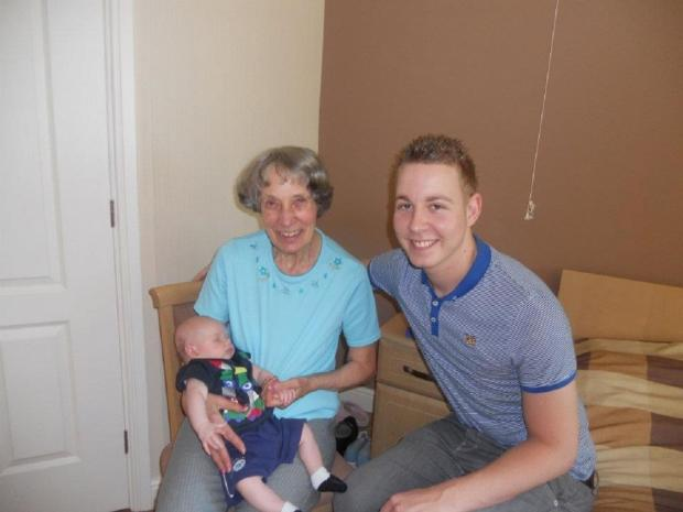 Tom Featherstone and his great-grandma Jean Lee