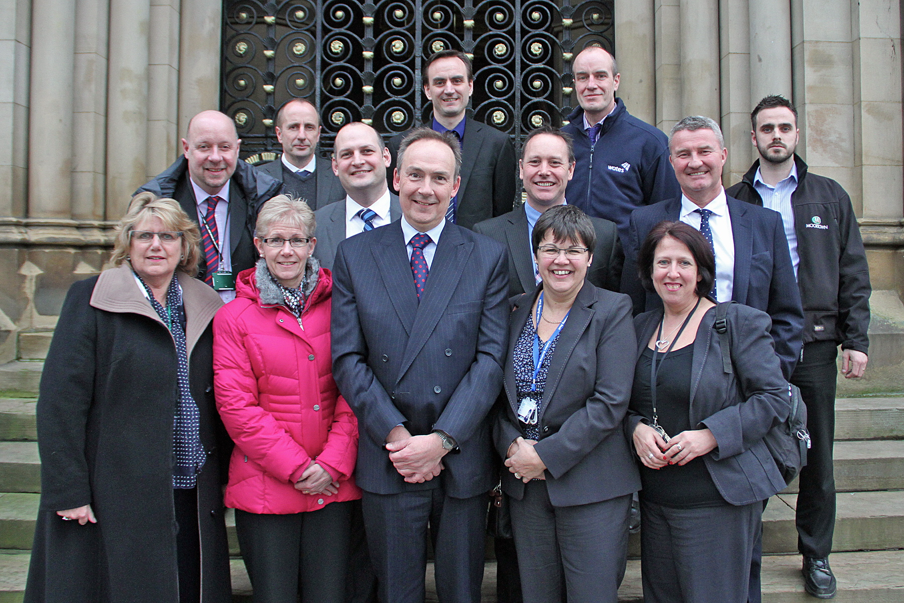 PLANNING AHEAD: Some of the people involved in the new training scheme launched in Bradford