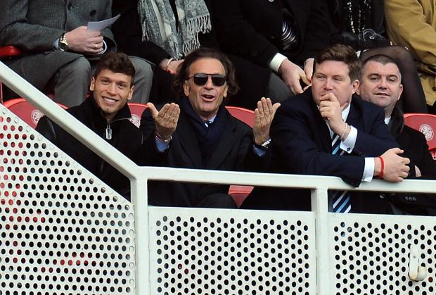 Massimo Cellino watches Saturday's goalless draw at Middlesbrough