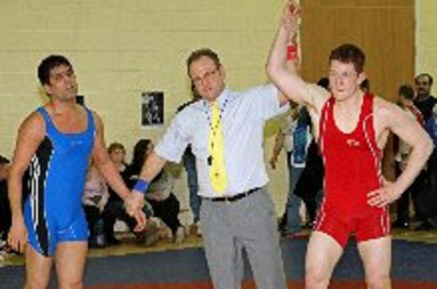 Tommy Hawthorn after winning his national bronze medal