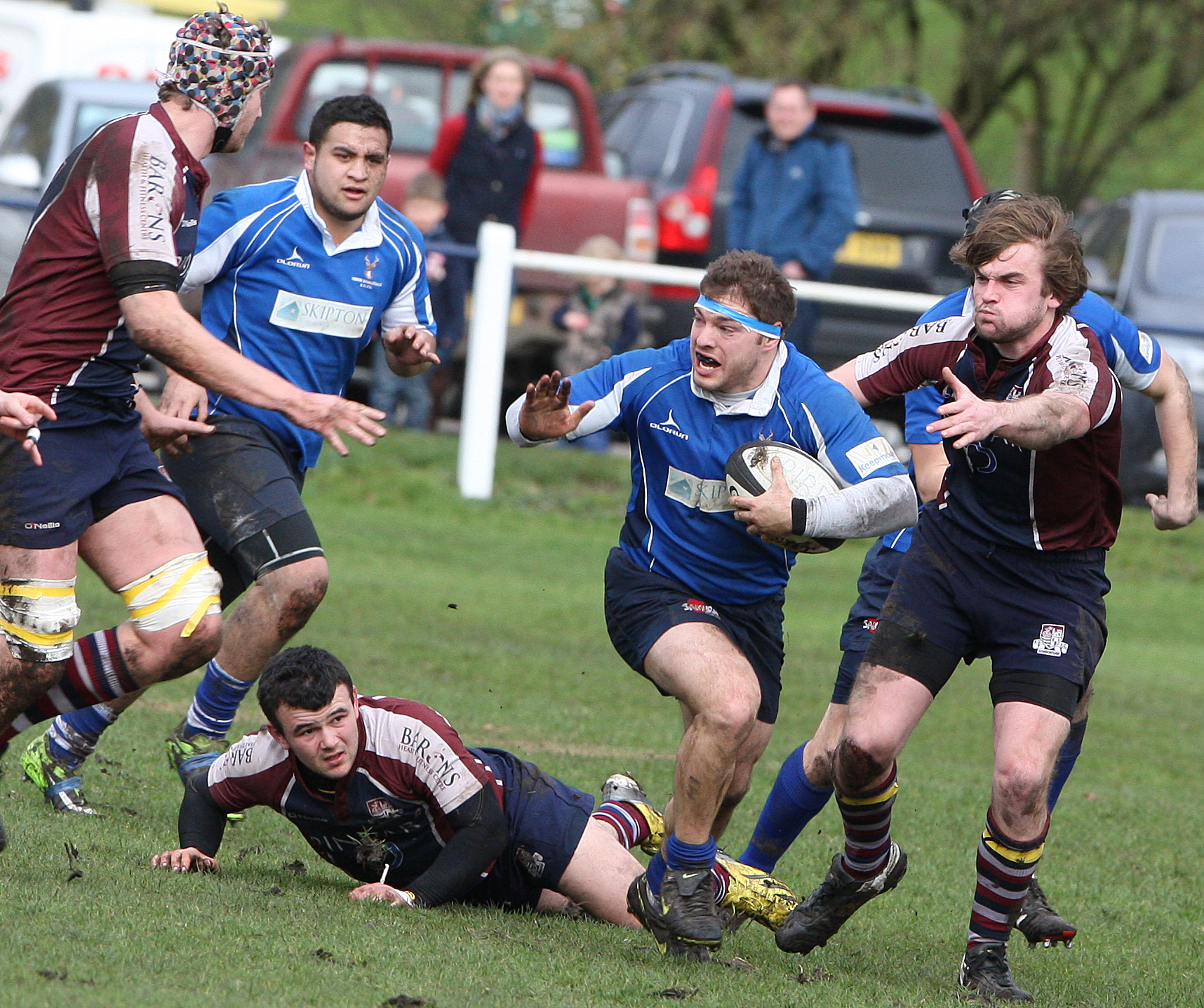 Matt Speres was injured early in North Ribblesdale's defeat