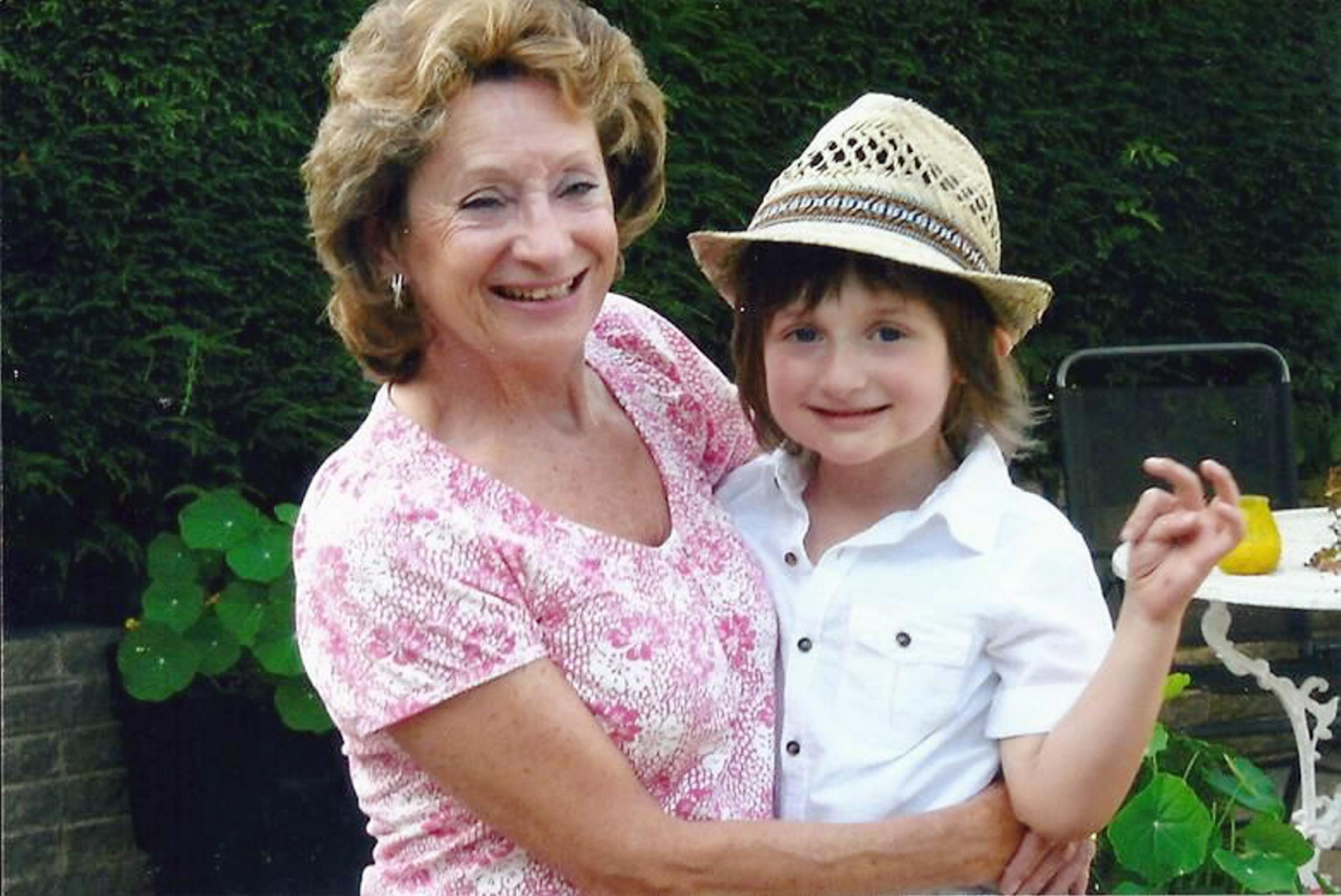 Dorothy Horsman with her grandson Gabriel after being given the all-clear from her cancer
