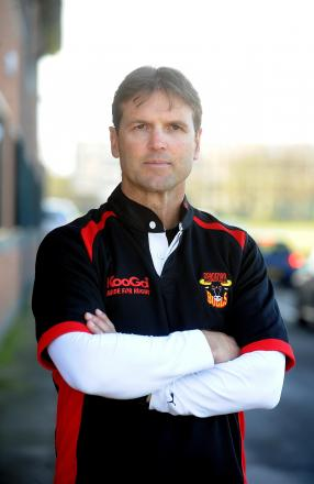 Bulls coach Mick Potter was helped by BullBuilder when the club went into administration in 2012