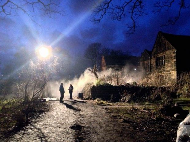 Preparation takes place for filming at Oakwell Hall