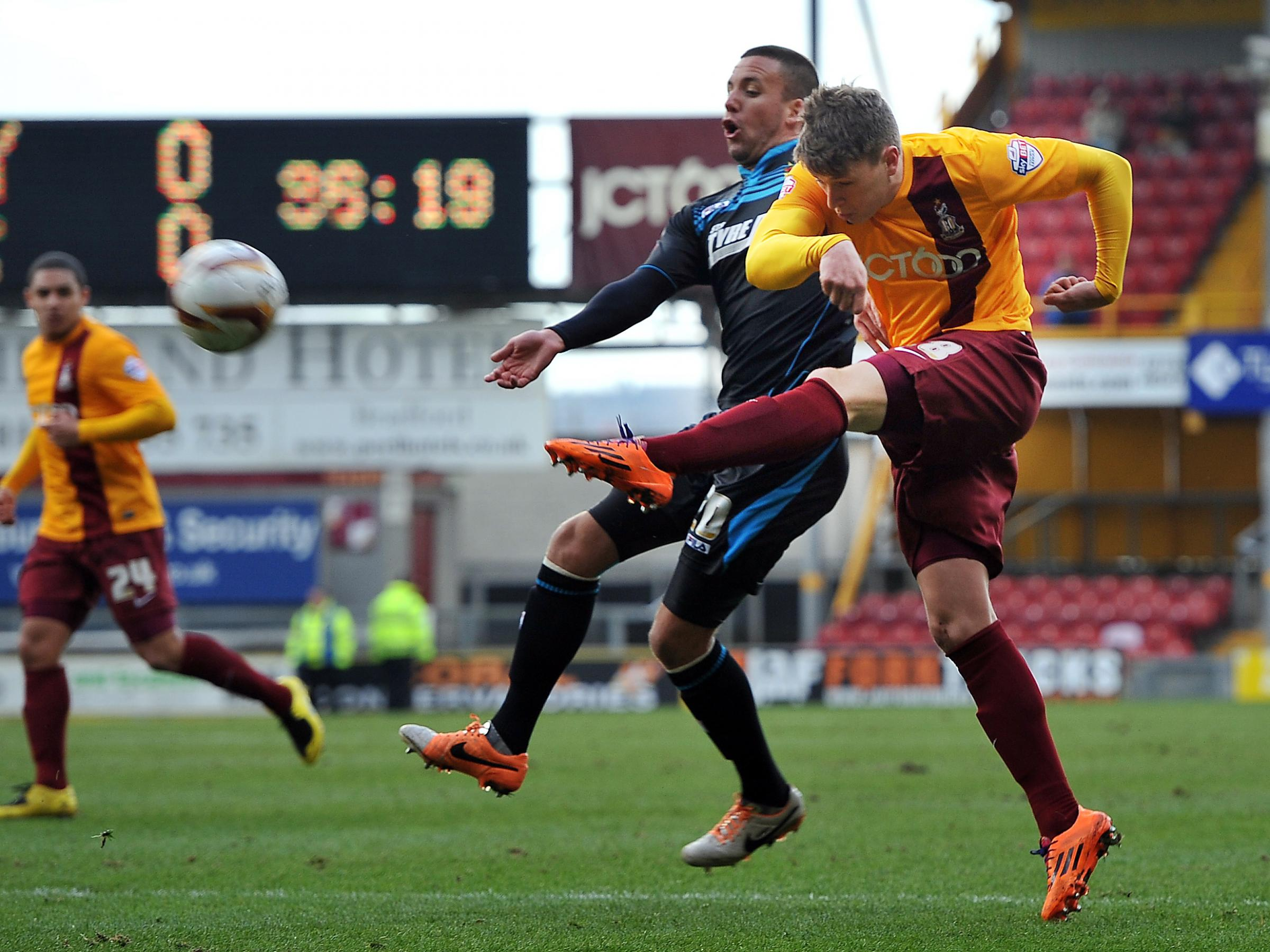 Bantams allow Stevenage to wriggle off the hook and net all three points