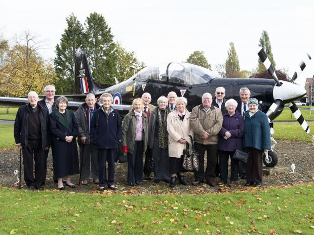 Bradford Branch members and guests (with David Bryan seventh from left) on a recent outing to RAF Linton-on-Ouse