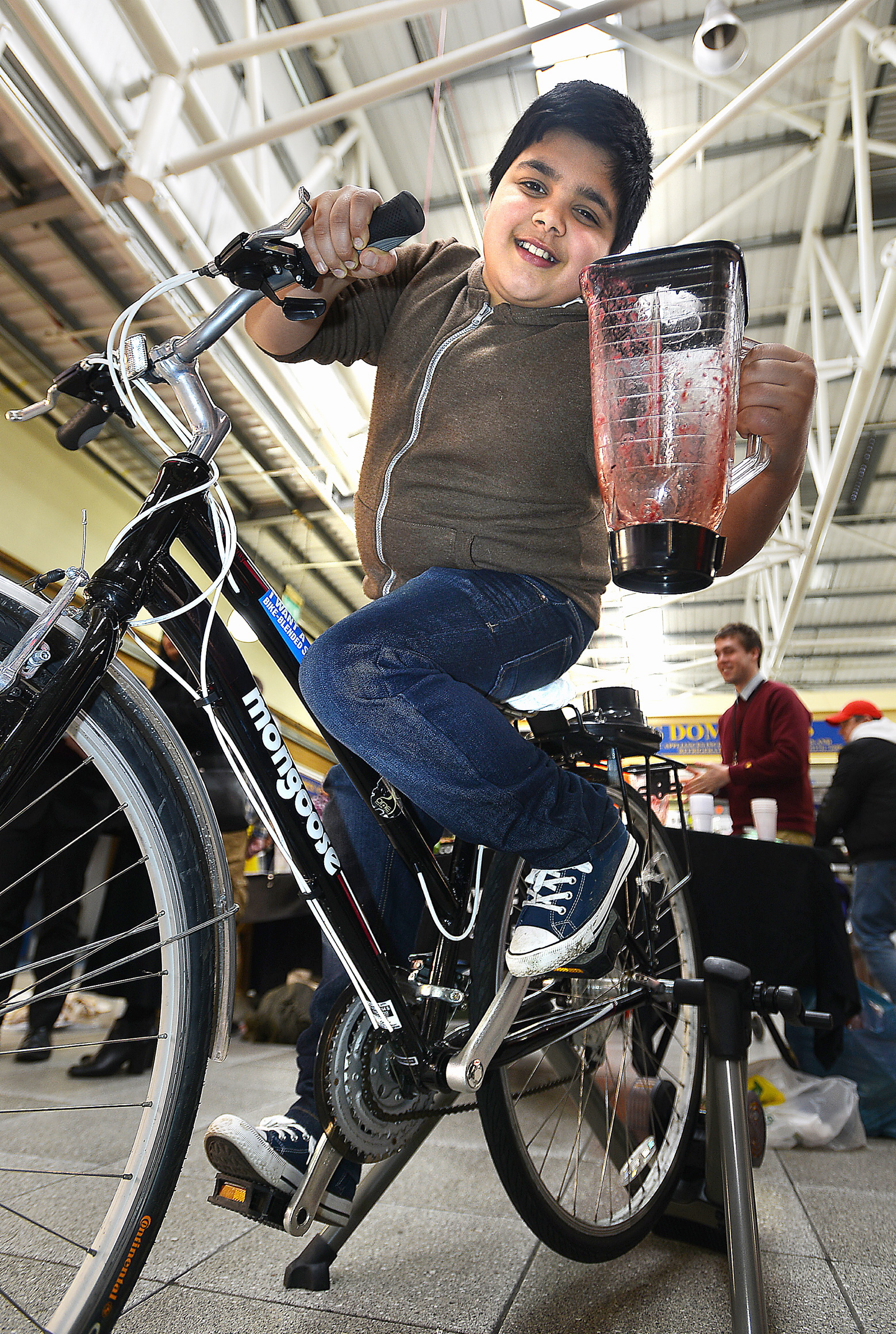 Pedal power means smoothie does it at Bradford market