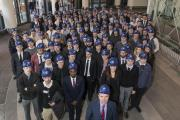 NG Bailey apprentices and chief executive David Hurcomb marked National Apprenticeship Week at Birmingham New Street Station, one of the biggest refurbishment schemes in Europe and a flagship project