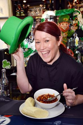Chef Joyce Farrell has the stew ready for Glyde House's Irish nights